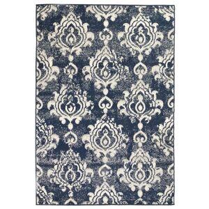 vidaXL bézs/kék modern szőnyeg kasmír mintával 80 x 150 cm
