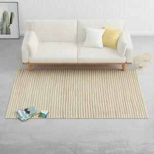 vidaXL fehér-természetes színű kendergyapjú szőnyeg 120 x 170 cm