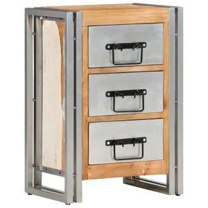 vidaXL tömör újrahasznosított fa fiókos szekrény 40 x 30 x 60 cm