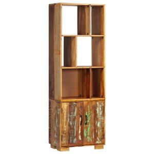 vidaXL tömör újrahasznosított fa könyvespolc 60 x 35 x 180 cm