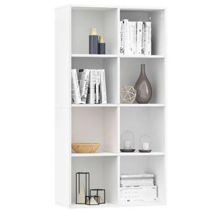 vidaXL fehér forgácslap könyv-/tálalószekrény 66 x 30 x 130 cm