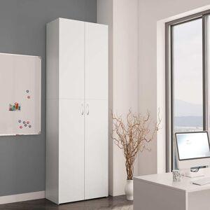 vidaXL fehér forgácslap irodai szekrény 60 x 32 x 190 cm