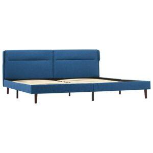 vidaXL kék szövetkárpitozású ágykeret 140 x 200 cm