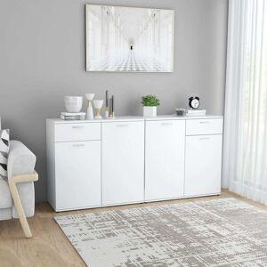 vidaXL fehér forgácslap tálalószekrény 160 x 36 x 75 cm