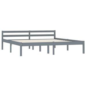 vidaXL szürke tömör fenyőfa ágykeret 160 x 200 cm