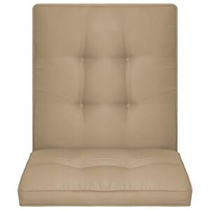 vidaXL 2 db bézsszínű párna kerti székhez 100 x 50 x 5 cm