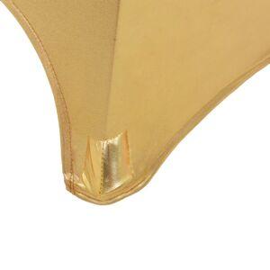 vidaXL 2 db aranyszínű sztreccs asztalterítő 80 cm
