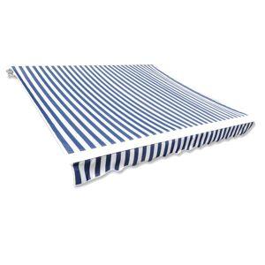 vidaXL kék és fehér napellenző ponyva 3 x 2,5 m (keret nélkül)