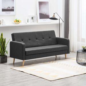 vidaXL sötétszürke szövet kanapé