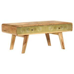 vidaXL tömör mangófa dohányzóasztal 90 x 50 x 40 cm