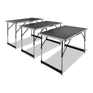 vidaXL 3 db összecsukható, állítható magasságú tapétázóasztal