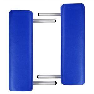 vidaXL Kék Összecsukható Masszázságy 3 részes fakaret