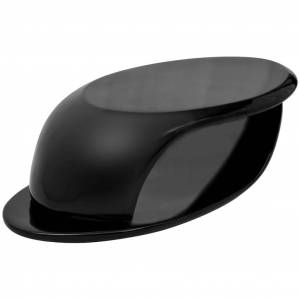 vidaXL magasfényű fekete üvegszálas dohányzóasztal