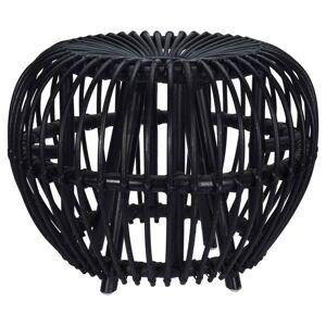 Home&Styling Brussel fekete rattan kubu ülőke