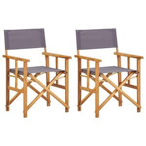 vidaXL 2 db tömör akácfa rendezői szék