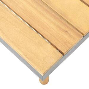 vidaXL tömör akácfa kerti dohányzóasztal 60 x 60 x 31,5 cm