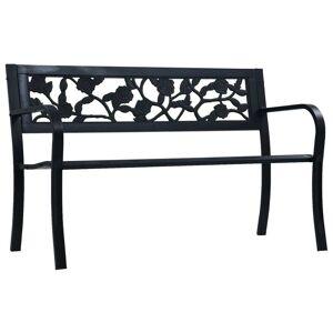 vidaXL fekete acél kerti pad 125 cm