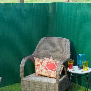 Nature zöld kétoldalú PVC kerti paraván 1 x 3 m