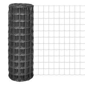 vidaXL Euro Fence szürke acélkerítés 10 x 1,5 m