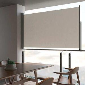 vidaXL krémszínű behúzható oldalsó terasz napellenző 140 x 300 cm