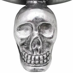 vidaXL gyümölcsös tál koponya alakú lábakkal alumínium ezüst