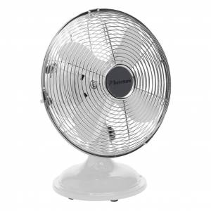Bestron DFT25W retró asztali ventilátor 30 cm fehér