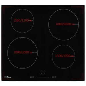 vidaXL 4-égős érintőpaneles üveg indukciós főzőlap 7000 W