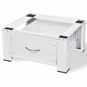 vidaXL fehér, fiókos mosógéptartó állvány