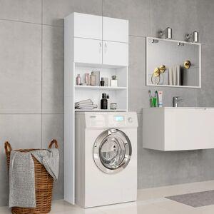 vidaXL fehér forgácslap mosógépszekrény 64 x 25,5 x 190 cm