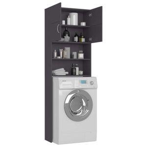 vidaXL szürke forgácslap mosógépszekrény 64 x 25,5 x 190 cm