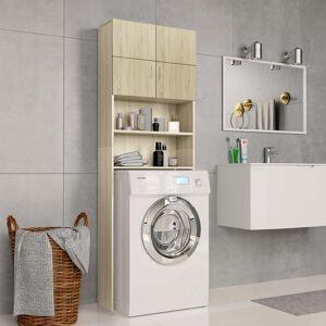 vidaXL sonoma tölgy színű forgácslap mosógépszekrény 64x25,5x190 cm