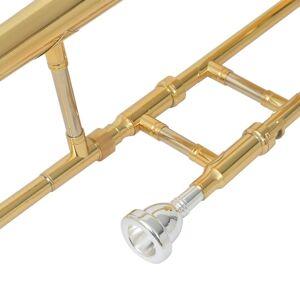 vidaXL arany lakkal bevont sárgaréz Bb harsona
