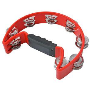 vidaXL 3 darabos műanyag csörgődob szett piros