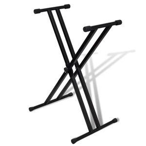 vidaXL Állítható Dupla Merevítőrendszerrel billentyűzet állvány X-Váz