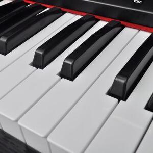 vidaXL elektromos/digitális zongora 88 billentyűvel és kottatartóval