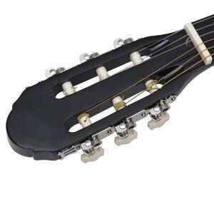 vidaXL fekete klasszikus hársfa gitár kezdőknek 4/4 39