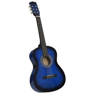 vidaXL kék klasszikus gitár kezdőknek és gyerekeknek 3/4 36