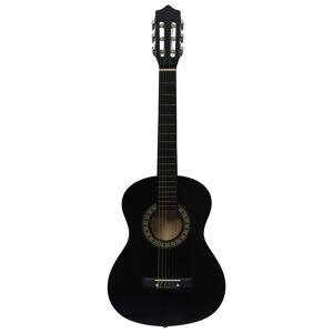 vidaXL fekete klasszikus gitár kezdőknek és gyerekeknek 1/2 34