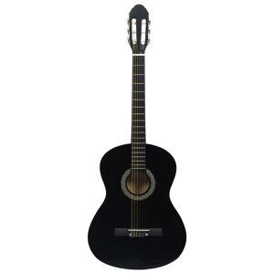 vidaXL fekete 4/4-es klasszikus gitár kezdőknek tokkal 39