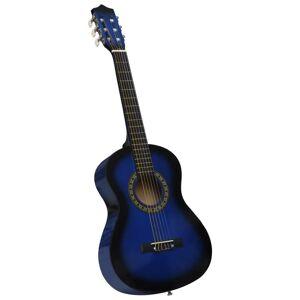 vidaXL kék 1/2-es klasszikus gitár kezdőknek és gyereknek tokkal 34