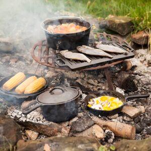 Esschert Design 7 darabos fekete tábortűzi főzőszett
