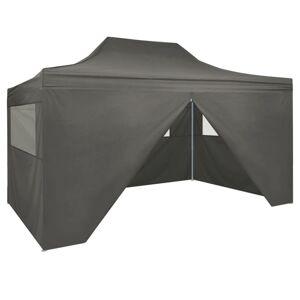 vidaXL antracitszürke összecsukható sátor 4 oldalfallal 3 x 4,5 m