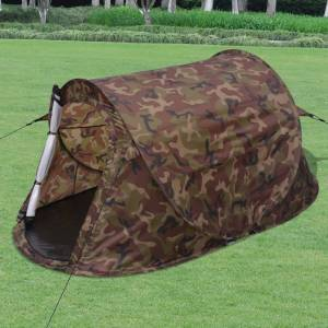 vidaXL 2 személyes terepszínű pop-up sátor