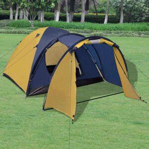 vidaXL 4 személyes sárga sátor