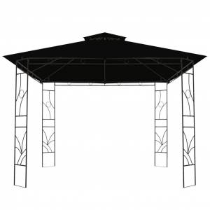 vidaXL antracitszürke négyzet alakú pavilon 300 x 300 x 300 cm