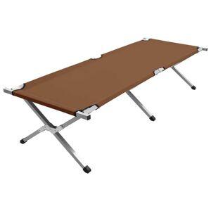 vidaXL barna XL kempingágy 190 x 74 x 47 cm