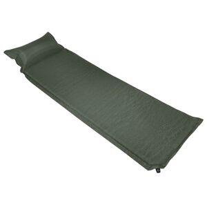 vidaXL sötétzöld felfújható matrac párnával 66 x 200 cm