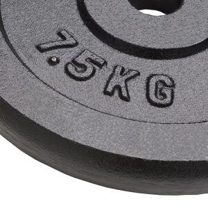 vidaXL 4 db öntöttvas súlyzótárcsa 30 kg