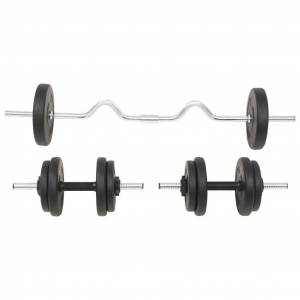 vidaXL egykezes és kétkezes súlyzókészlet 30 kg