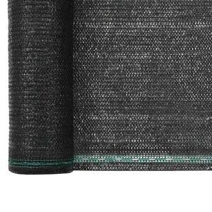 vidaXL fekete HDPE teniszháló 1,4 x 50 m